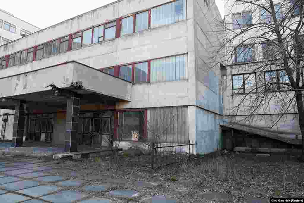 This is the abandoned Burevisnyk military factory in Kyiv. The site once produced medical ventilators for personnel wounded in the Soviet-Afghan war. The factory is owned by the state defense conglomerate Ukroboronprom.