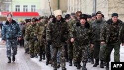 Казаки в Донецьку, 17 березня 2014 року