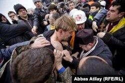 "Столкновения активистов Майдана с ""титушками"", Киев, 22 февраля 2014 года"
