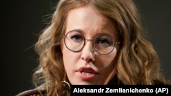 Russian presidential candidate Ksenia Sobchak (file photo)