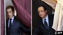 Социјалистичкиот кандидат Франсоа Оланд и конзервативниот претседател Николас Саркози.