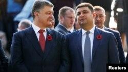 Архивное фото: президент Украины Петр Порошенко и премьер-министр Украины Владимир Гройсман