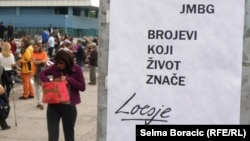 Bosnia and Herzegovina - Citizens protest because of problem with social security number, Sarajevo, 07Jun2013.