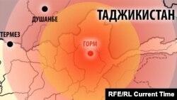 Карта районов, затронутых землетрясением 26.10.2015