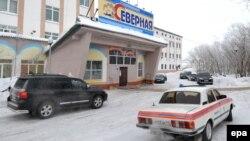 Будівля адміністрації шахти «Північна» у російській Воркуті