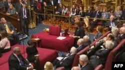 Заседание Палаты лордов британского парламента.