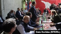 Georgia - Meeting of opposition at Georgian Labour Party.