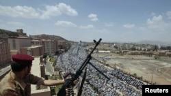 Антиправительственная демонстрация в Сане. 3 июня 2011 года