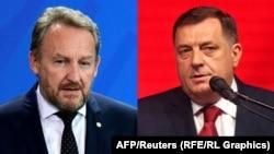 Posvađani u EU: Bakir Izetbegović, predsjedavajući bh. Predsjedništva i Milorad Dodik, predsjednik RS