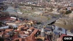 Pamje e kryeqytetiti Tbilisi nnë Gjeorgji