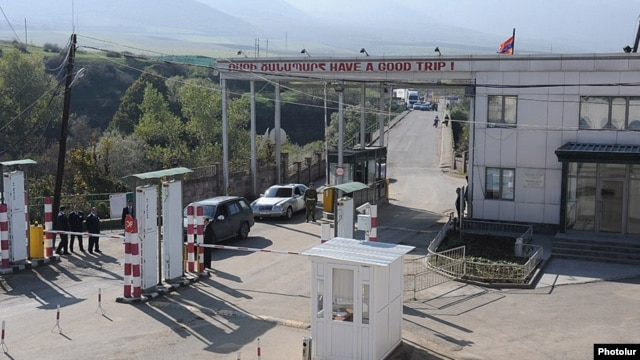 Armenia - The Armenian-Georgian border crossing at Bagratashen.
