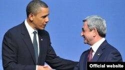 Հայաստան -- Նախագահ Սերժ Սարգսյանի հանդիպումը իր ամերիկացի գործընկերոջ հետ Վաշինգտոնում, արխիվ, 12-ը ապրիլի, 2010թ․