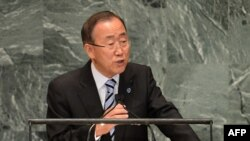 UN Secretary-General Ban Ki-Moon apparently saw the funny side of being tricked.