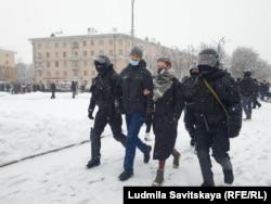 Одно из задержаний в Пскове 31 января