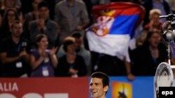 نواک جوکویچ در مسابقات اوپن استرالیا/ عکس تزئینی است