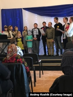 A Baptist worship service in Russia