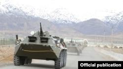 Техника, задействованная в учениях Вооруженных сил Узбекистана.