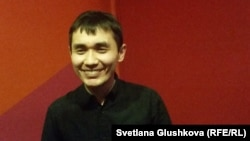 """Адильхан Ержанов, режиссер фильма """"Хозяева"""". Астана, 17 марта 2015 года."""