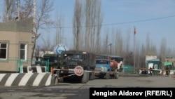 Пограничный пункт в Кадамжайском районе, 25 января 2013 года.