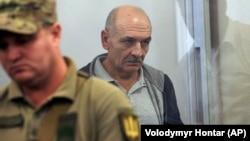 Volodymyr Tsemakh in a Kyiv courtroom on September 5.
