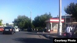 Ташкенттегі жарылыс болған маң. Өзбекстан, 4 қыркүйек 2015 жыл.