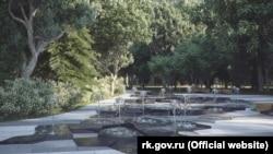 Мини-фонтаны, которые власти пообещали установить в Пионерском парке Ялты