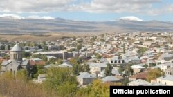 Armenia -- A view of the town of Gavar.