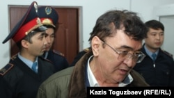 Ескендір Ерімбетовтың әкесі Мырзахан Ерімбетов сот үкімінен соң. Алматы, 22 қазан 2018 жыл