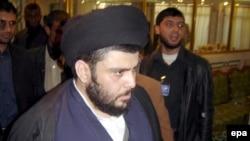 مقتدی صدر، روحانی تندروی عراقی، بعد از ماهها، ظهر جمعه در انظار عمومی ظاهر شد.