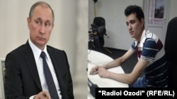 Баҳманёр Надиров (аз рост) муаллифи нома ба Владимир Путин