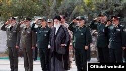 رهبر جمهوری اسلامی در دانشکده افسری سپاه پاسداران در روز یکشنبه، ۲۱ مهر