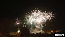 Мальта астанасы Валетта қаласындағы отшашу.