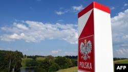 Слуп на мяжы Польшчы, Літвы і Калінінградзкай вобласьці Расеі