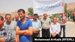 تظاهرة لمسيحيين في ناحية القوش