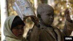 صحنه ای از فیلم بودا از شرم فرو ریخت، ساخته حنا مخملباف