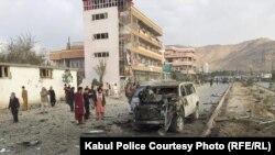 د کابل په پنځلسمه ناحیه کې د موټر بم چاودنې انځور- 13 November 2019