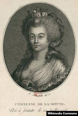 Жанна де Ламотт-Валуа. Гравюра Франсуа Бонвиля. Около 1796