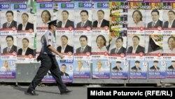 Plakati u Sarajevu uoči opštih izbora 2012. godine.