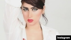 "An Instagram portrait of Qandeel Baloch, who Pakistani authorities say was murdered by her brother in an ""honor killing."""