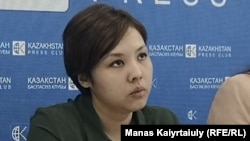 Журналистка Асем Жапишева, активистка движения «Oyan, Qazaqstan».