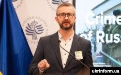 Заступник голови Меджлісу кримськотатарського народу Наріман Джелял під час конференції «Крим після п'яти років російської окупації» в Інституті миру США. Вашингтон, 19 березня 2019 року