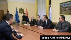 Aleksandar Vučić sa predstavnicima Srba sa Kosova u Beogradu