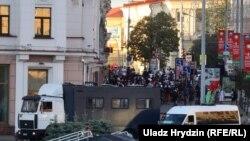 Manifestări spontane de solidaritate în centrul Minskului. 7 august 2020