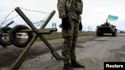 Ukrajinska vojska u selu Salkovo u regiji Kerson
