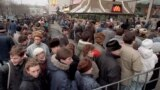 russia -- file -- FILE-- In this Wednesday, Jan. 31, 1990, file photo, hundreds of people line up around the first McDonald's restaurant in the Soviet Union at Moscow's Pushkin Square, on its opening day.