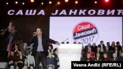 Muzičar Vlado Georgiev na skupu podrške Saši Jankoviću, opzicionom kandidatu za predsednika Srbije