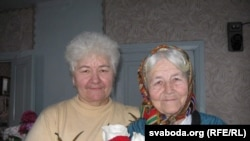 Ульяна Рыгораўна з пляменьніцай Любай.