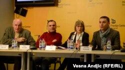Sa konferencije za novinare REKOM-a, Beograd, 24. januar 2014.