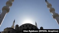Бишкектеги мечит. Иллюстрациялык сүрөт.