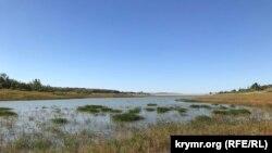 Обмелевшее Белогорское водохранилище, архивное фото